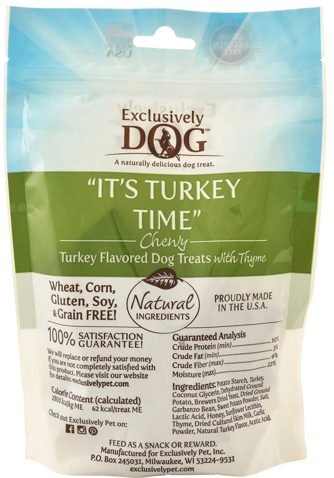 It's Turkey Time Chewy Dog Treats | Jeffers Pet