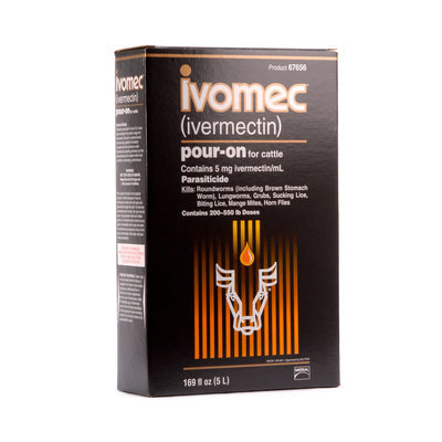 Ivomec Pour-On Cattle Wormer, 5 L