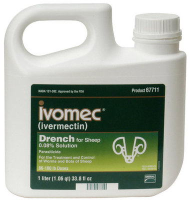 Ivomec Sheep Drench Dewormer, 1000 mL (1 L)