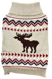 Jacquard Knit Dog Sweater, Moose, X-Small