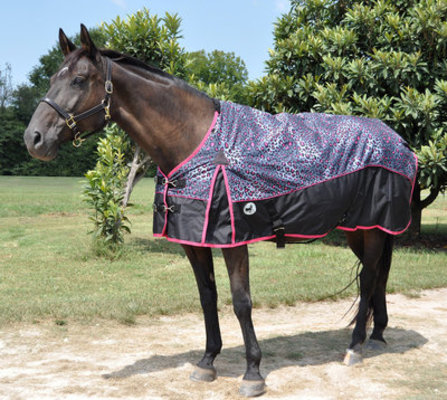 "Jeffers 600D ""Bonita Cheetah"" Horse Blanket, 240g"