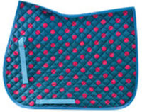 Jeffers Exclusive Polka Dot English Saddle Pad