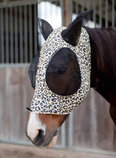 """Jeffers Expression """"Electric Cheetah"""" Lycra Fly Mask with Ears"""