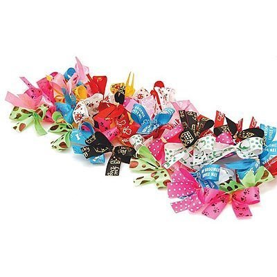 Jeffers Groomer Bows, 50-pack