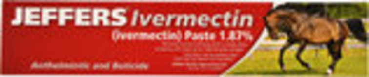 Jeffers Ivermectin Horse Wormer Paste, Single Dose
