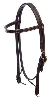 Jeffers Leather Browband Headstall, Havana