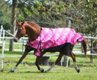Jeffers 600D Pink Prism Turnout Blanket, 240g
