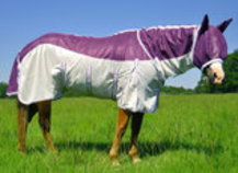 Jeffers Plum Crazy Combo Neck Fly Sheet