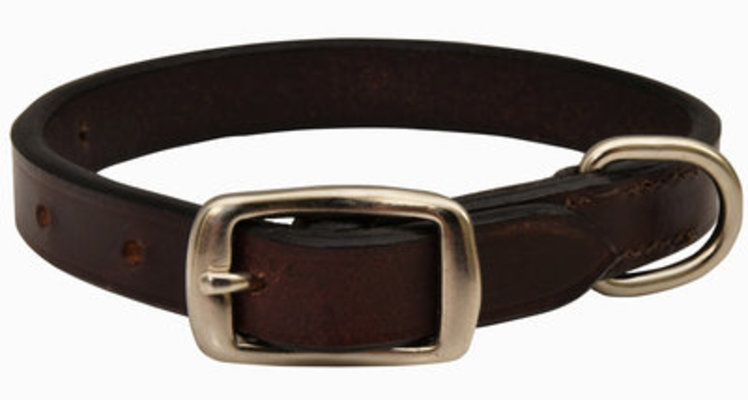 "1/2"" X 11"" Jeffers Premium Flat Leather Collar"