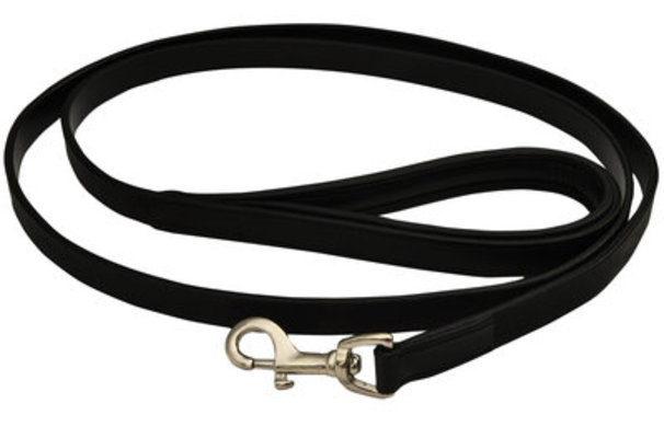 "5/8"" x 4' Jeffers Premium Padded Black Leather Leash"