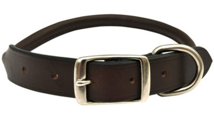 "3/4"" x 15"" Jeffers Premium Rolled Leather Collar"