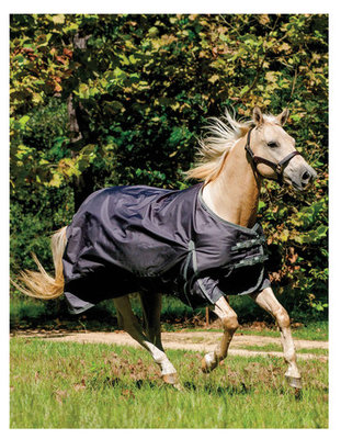 Jeffers Romper Stomper Medium Turnout Blanket, Gunmetal