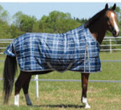 Jeffers Solaris 1200D Extended Neck Blanket 240g, Sapphire Plaid