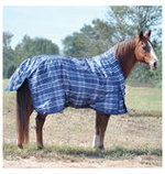 Jeffers Solaris 1200D Extended Neck Blanket 360g, Sapphire Plaid