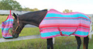 "Jeffers Expression ""Sunset Serape"" Fleece Horse Cooler"