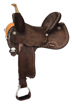Josey Ultimate Cash Rancher Barrel Saddle, Wide Tree
