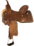 Josey Ultimate Renegade Rancher Barrel Saddle, Regular Tree