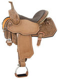 Josey Ultimate Revolution Flex 2 Barrel Saddle, Wide Tree