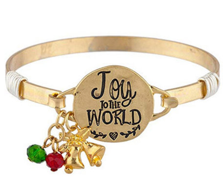 """Joy to the World"" Bangle Bracelet"