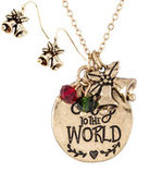 """Joy to the World"" Necklace & Earring Set"