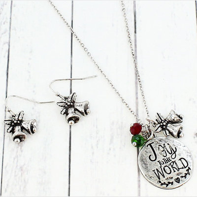 """""""Joy to the World"""" Necklace & Earring Set"""