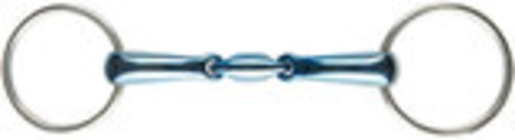 JP Korsteel Blue Steel Oval Link Loose Ring Snaffle Bit