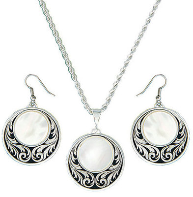 Silver Prairie Under a Full Moon Jewelry Set