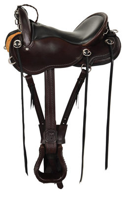 Julie Goodnight Cascade Crossover Trail Saddle, Regular Tree, Walnut