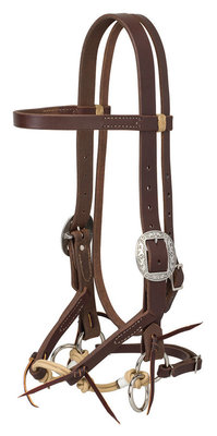 Justin Dunn Bitless Bridle, Oiled Harness