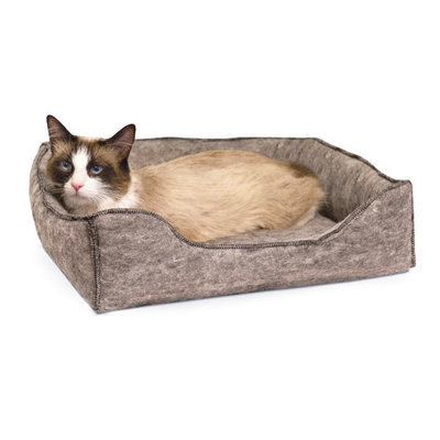 "Small (13"" x 17"") K&H Amazin Kitty Lounge Sleeper, Gray"