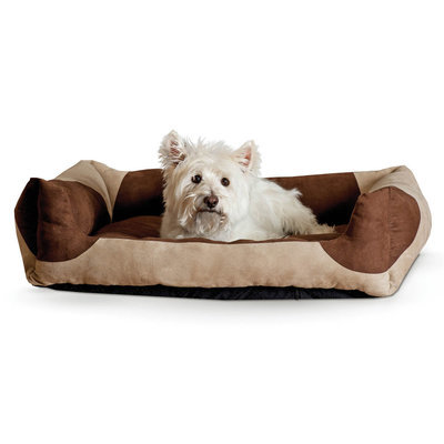 "K&H Classic Lounger Bed - Tan/Chocolate 28"" x 32"""