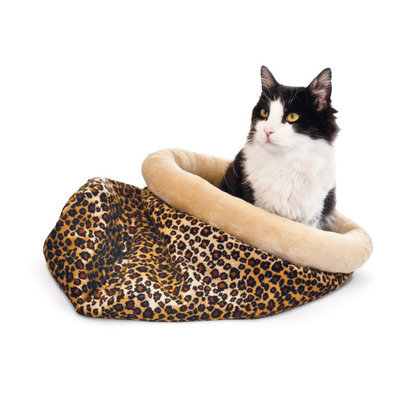 K&H Leopard Self-Warming Kitty Sack, Small