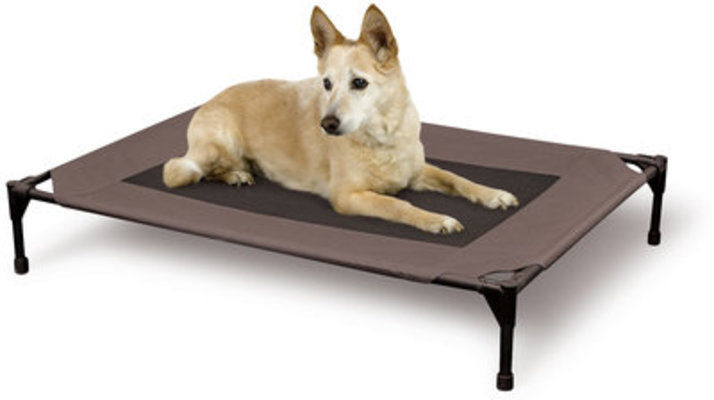 "Elevated Pet Cot Cover, Large, 30"" x 42"", Chocolate/Mesh"
