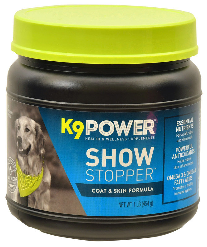 K9power show stopper coat skin optimizer for dogs 1 lb for Show stopper equipment