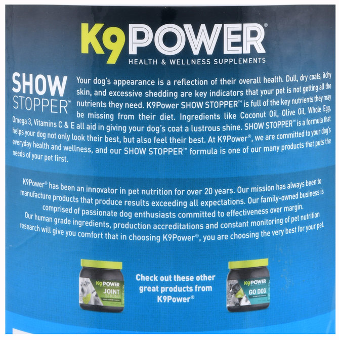 K9power show stopper coat skin optimizer for dogs for Show stopper equipment
