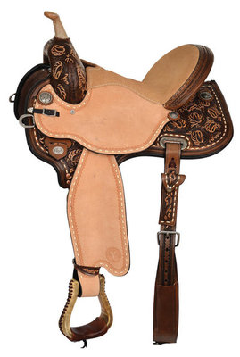 Kaminski Limelight Flex2 Barrel Saddle, Regular Tree, Vintage