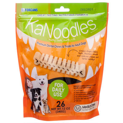 KaNoodles Premium Dog Dental Chews, 12 oz