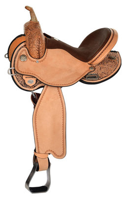Kelly Kaminski Swift Flex2 Barrel Saddle, Regular Tree, Antique
