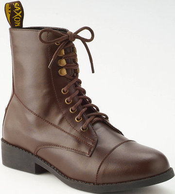 Saxon Children's Equileather Lace Paddock Boots