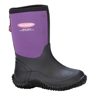 Kid's Tuffy All Season Sport Boot, Black/Purple