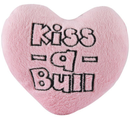 Kiss-A-Bull Plush Conversation Heart