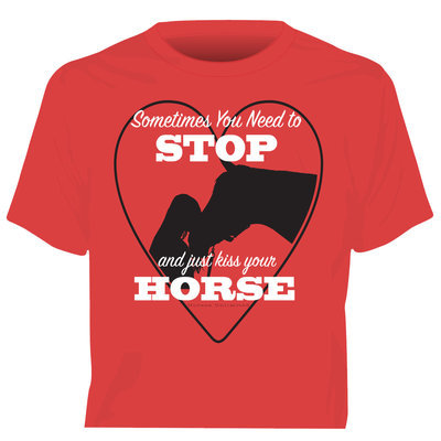 """Kiss Horse"" Short Sleeve T-Shirt"