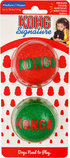 KONG Holiday Signature Balls Dog Toys, 2 pack