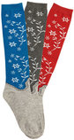 "Ladies Knee High ""Western Boot"" Socks, 3 pair"