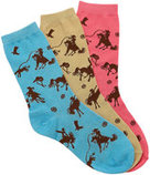 "Ladies ""Rodeo"" Socks, 3 pair"