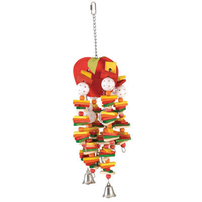 Large Apple Bird Toy, Red
