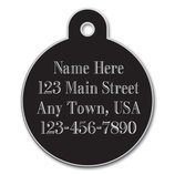 Large Circle Tag, Black