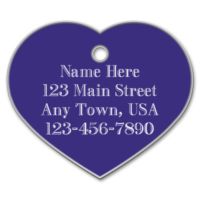 Large Heart Shape Dog Tags