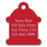 Large Hydrant Shape Dog Tag