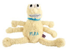 Large Plush Flea Dog Toy, 12""